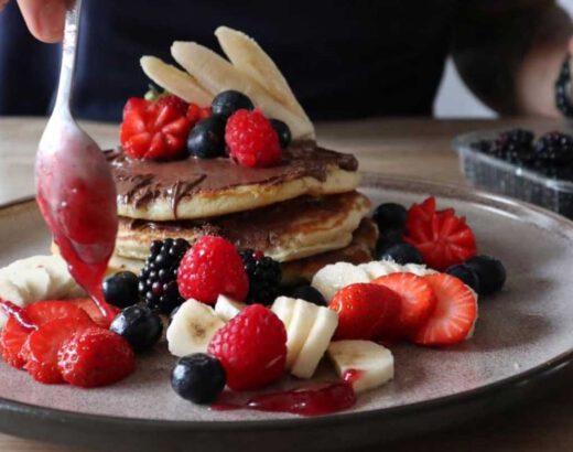 American pancake met Nutella